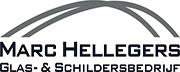 Hierbij het logo van Glas- & Schildersbedrijf Marc Hellegers